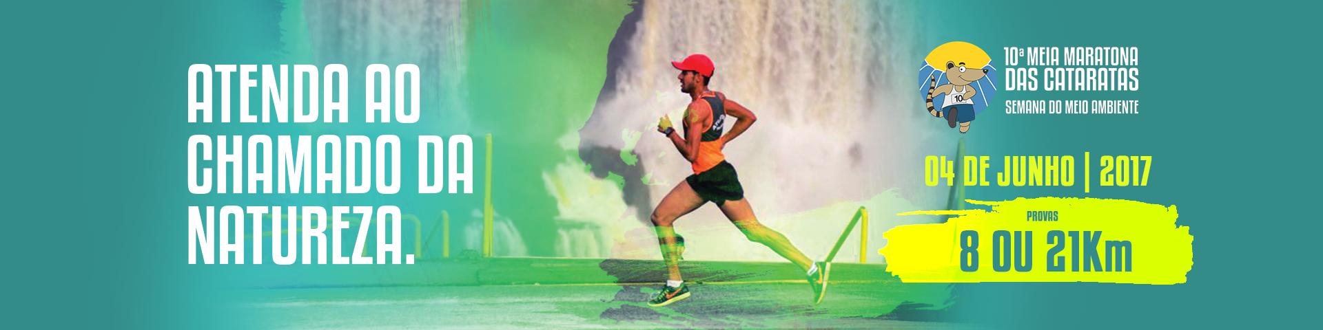Banner 10° Meia Maratona das Cataratas